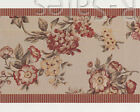 2 Rolls or Sample Rosemary Floral Flowers Raspberry Gold Wallpaper Wall Border