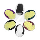 Cabochons Resin DIY Flatbacks 2-6Pcs Cameo 40x30x7mm Oval Vintage Settings