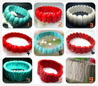 """New Fashion Blue 、Red、White Turquoise Beads Stretch Bracelet  8"""""""
