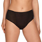 PRIMA DONNA TWIST ONLY YOU SLIP TAILLE HAUTE 0541411 NOIR NEUF FULL BRIEF NEW