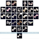 10x NEW 3D Alloy Rhinestones Crystal Bow Tie Nail Art Glitters DIY Salon