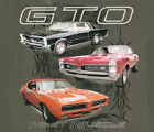 Pontiac GTO 1965 1967 1969 First Muscle Car  Charcoal Gray Cotton T-Shirt NEW