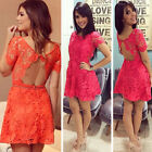 Sexy Women Summer Sleeveless Lace Evening Party Cocktail Short Mini Dress
