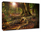 Tree House Forest Wood Landscape Wall Hanging Picture Fantasy Wall Canvas Print