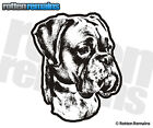 Boxer Dog Decal Pet Kennel Dogs Adopt Rescue Car MATTE Vinyl Sticker (RH) HGV