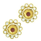 Studs earring for girls pearl kundans kundan women ear stud earings ABEA0314