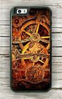 GEARS CLOCK STEAMPUNK STYLE CASE FOR iPHONE 6 6S or 6 6S PLUS -tef6Z