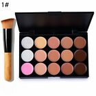 15 Contourr Face Cream Makeup Kit Conceale Camouflage Palette + Make Up Brush