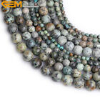 Natural Stone Multi Blue Turquoise Stone Beads For Jewelry Making 15""