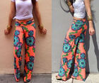Casual Retro Trend National Wind Printing Straight Leisure Trousers Best Hot
