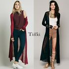 New Casual Slim Long Cardigan Blouse Coat Fashion Long Sleeve Women O-Neck  TXWD