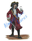 Pirate with Hook and Sword Vinyl Decal Sticker - Car Truck RV Cup Boat Tablet