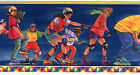 Sports Roller Blading Skating Boys Room Blue Red Wall Decor Wallpaper Border