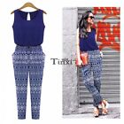 Women Summer Sleeveless Playsuit Casual Jumpsuit Romper Long Maxi Trousers TXWD
