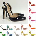 Womens Sexy High Heels Patent Leather Shoes Wedding Party Sandals US Size 4-11