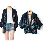 Phoenix Printed Thin Section Chiffon Coat Loose Style Kimono Cardigan Jacket