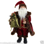3500755 RAZ 24 Victorian Santa Claus Father Christmas Decoration Red Brown Gold
