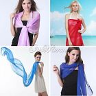 Colors Long Soft Silk Women Lady Chiffon Scarf Wrap Fashion Women Girls Scarves