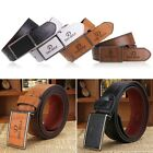 Cool Men's Classic Buckle Automatic Waistband Leather Casual Genuine Belt
