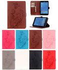 """Leather Embossing Pattern Magnetic Stand Cover Case for Samsung Tab A 8"""" T377"""