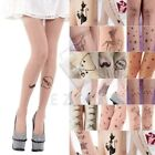 Hot Women's Tattoo Pattern Pantyhose Footed Tights Tights Stockings