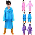 Boys Girl Kids Hooded Jacket Rainsuit Rain Poncho Raincoat Cover Long Rainwear