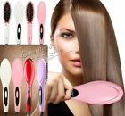 HOT! ELECTRIC FAST HAIR STRAIGHTENER STRAIGHTENING BRUSH COMBS UK EU US AU PLUG
