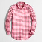 NWT J. Crew Factory SEERSUCKER GINGHAM SHIRT Top Blouse S M L XL