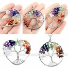 New Fashion Tree Of Life Natural Gemstone Charm Pendant For Necklace Jewelry