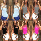 Sexy Womens Ladies Vest Top Sleeveless Blouse Summer Casual Tank Tops T Shirt