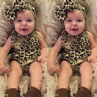 Newborn Kids Baby Girls Toddler Romper Jumpsuit Bodysuit Clothes Outfit Hairband