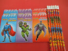 SuperHero Notebooks and Pencils Great Party Bag Fillers Pick your amount