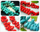 "6X11mm;10X18MM, 11X25MM Red Howlite Turquoise Cone Loose Beads 16"" / 30 PC/25PC"