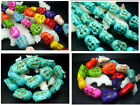 19 / 23 / 27MM Blue Howlite Turquoise Buddha Head Loose Beads 20pcs T94