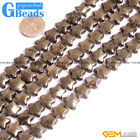 Natural Pyrite Gemstone Polygon Star Flat Beads For Jewelry Making Free Shipping