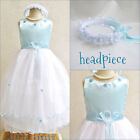 Gorgeous Light/Sky blue pageant flower girl party dress easter dresses
