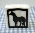 Horse Napkin Holder Western Metal Art Ranch Cabin Rustic Lodge Decor Kitchem