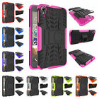 For HTC Desire 828 Heavy Duty Kickstand Plastic Rubber Rugged Armor Case Cover