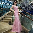 Lace Floral Mermaid Evening Party Ball Gown Prom Wedding Bridesmaids Long Dress