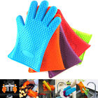 2x Kitchen Microwave Silicone Glove Heat Resistant Oven Bake BBQ Cooking Mitts