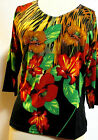Valentina Top Multi Colored Blouse  Style 8169 Studed Polly NWT  Size Small