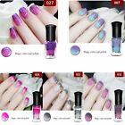 colorful 6ml Color Changing Thermal Nail Polish Peel Off Nail Art Varnish Decor