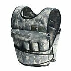 CROSS101  Camouflage Adjustable Weighted Weight Vest Training Fitness - NEW