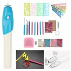 Paper Quilling Slotted Needle Tool Pen Pin Tweezer Board Ruler Grid Guide DIY