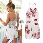 New Womens Ladies Clubwear Lace Playsuit Bodycon Party Jumpsuit Romper Trousers