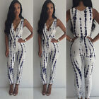 Womens Sleeveless Jumpsuit Romper Pants Bodycon Clubwear Party Playsuits JYL