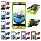 "1xFor Asus Zenfone 3 Deluxe ZS570KL 5.7"" Heavy Stand PC Rubber Rugged Case Cover"