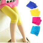 5-9Y Baby Kids Girls Skinny Pants Lace Solid Warm Stretchy Leggings Trousers us