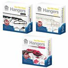 50 Velvet Non Slip Flocked Adult Coat Clothes Trouser Hanging Hangers With Bar