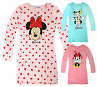 Girls Long Sleeved Minnie Mouse Nightdress New Kids Disney Nightie Ages 2-8 Yrs